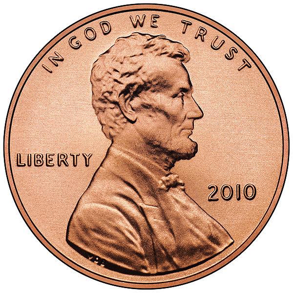 Монета в 1 цент (penny)