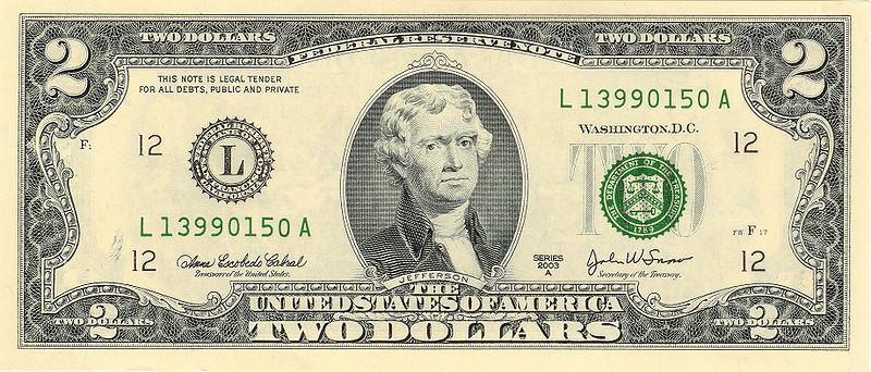 2 доллара