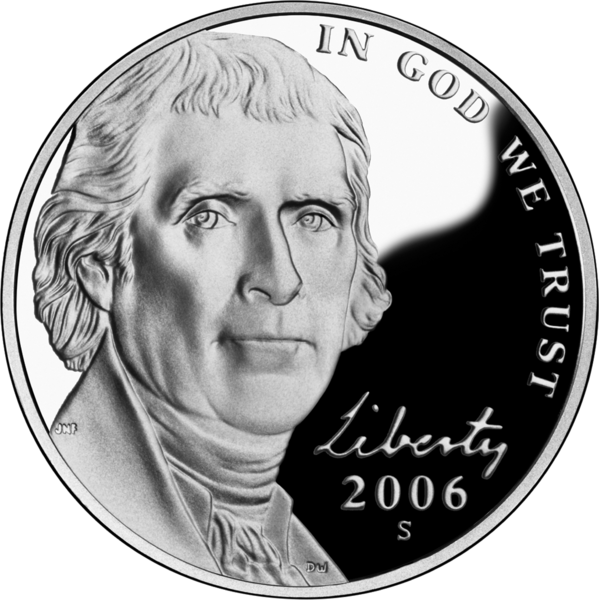 Монета в 5 центов (nickel)