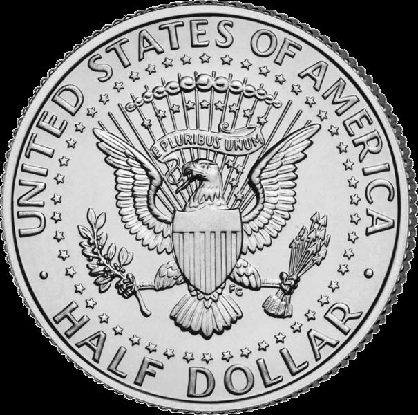 Монета в 50 центов (half dollar)